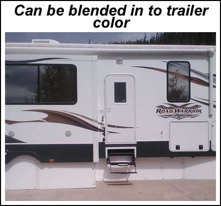Can be blended in to trailer color